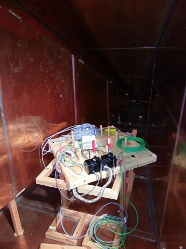 Inside GEMT type EMC chamber