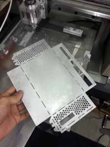 Milled enclosure sheet metal