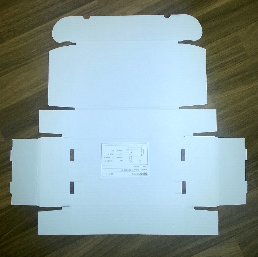 Box flattened a.k.a. the printable surface