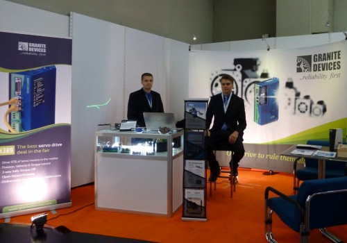 Tero Kontkanen and Timo Piiroinen at the SPS IPC DRIVES 2013 exhibition