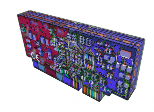 Offtopic image: IONI PCB in exploded 3D view (ZofzPCB)