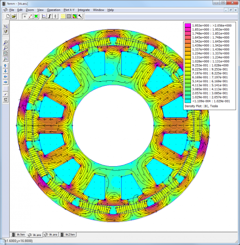 BLDC torque simulation with FEMM